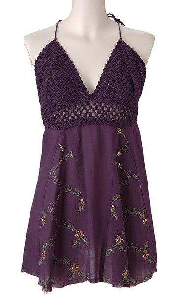 Идеи для переделок одежды - комбинируем ткань с вязанием...