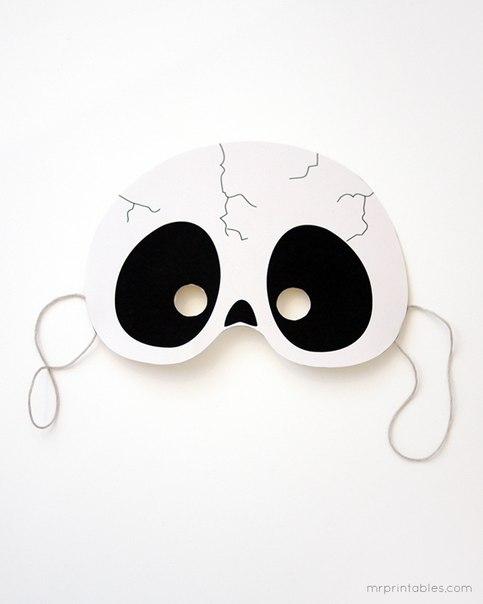 Маска очки своими руками шаблон 99