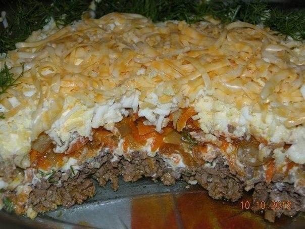 Салат с печенкой рецепт и