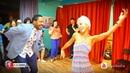 Adonis bailando salsa por primera vez con Lisandra en Moscú, Rusia rumba salsa timba cubana