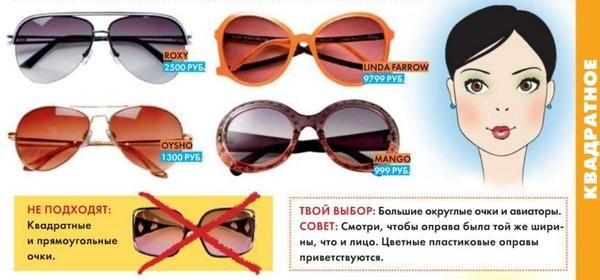 Как подобрать мужчинам солнцезащитные очки по форме лица
