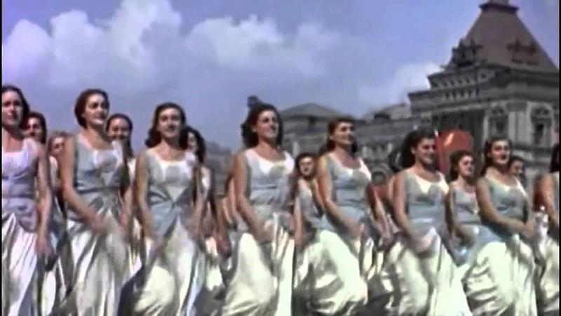 Первомайский парад с И.В.Сталиным, 1937 год, Москва майская