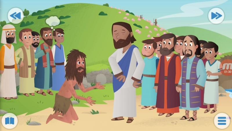 Библия для детей-Иисус изгоняет злых духов.25 серия