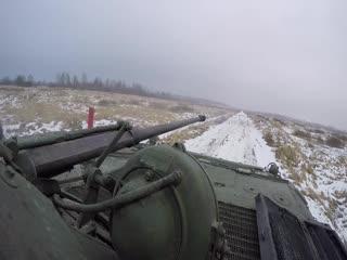Огневая подготовка экипажей БМП-2 БФ к первому этапу конкурса АРМИ Суворовский натиск