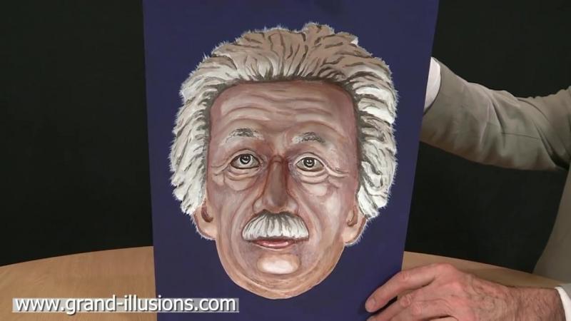 Painted Einstein Hollow Face Illusion (1)