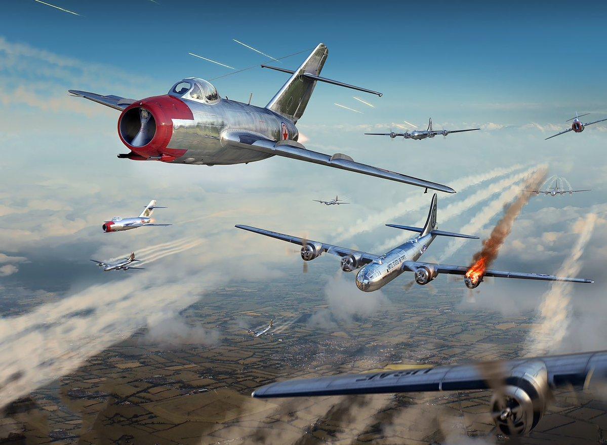 """Как русские """"МИГи"""" американские Б-29 в клочья разрывали"""