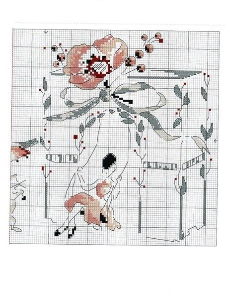 Вышивка крестом маникюр 22