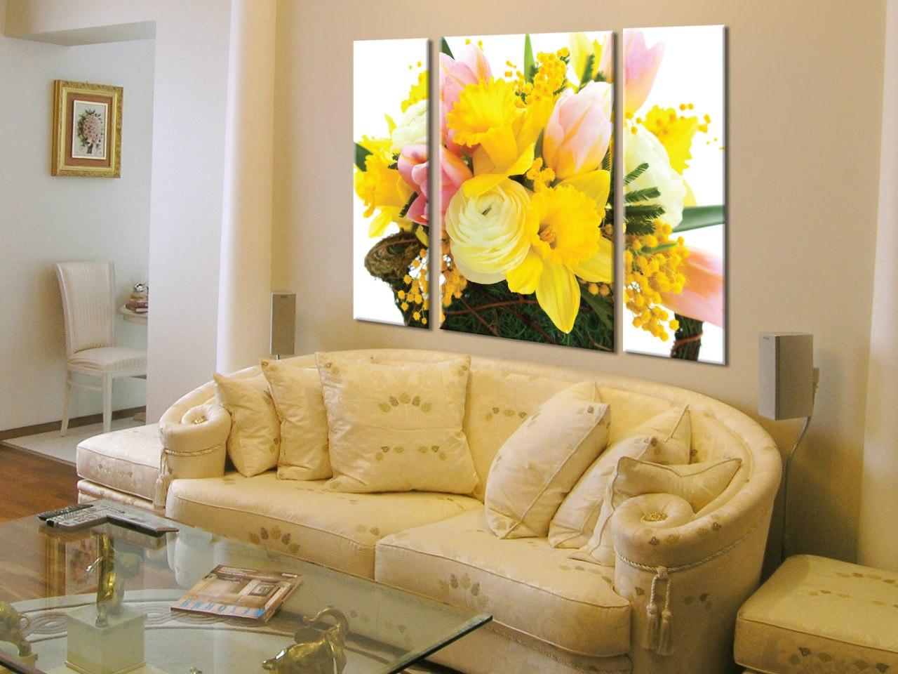 Картины 3д для интерьера фото цветы