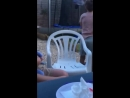 Lad tries to do a backflip and breaks trampoline
