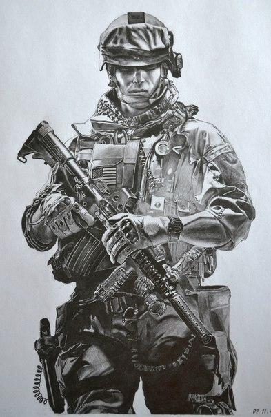 рисунки солдатов карандашом: