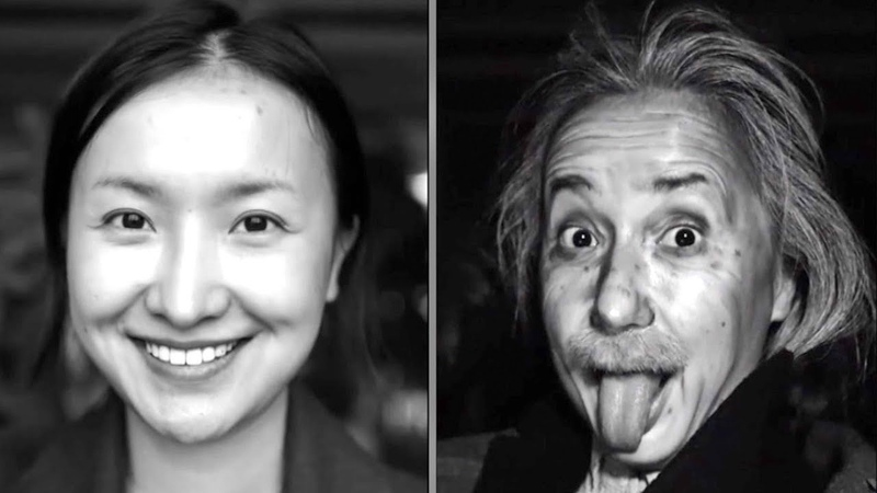 Chinese makeup master transforms herself into Einstein