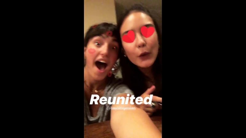 Личное видео из инстаграм-истории Саванны Латимер (12/07/8)