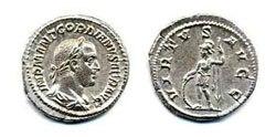 Древнеримские женщины-богини, монеты, Виртус