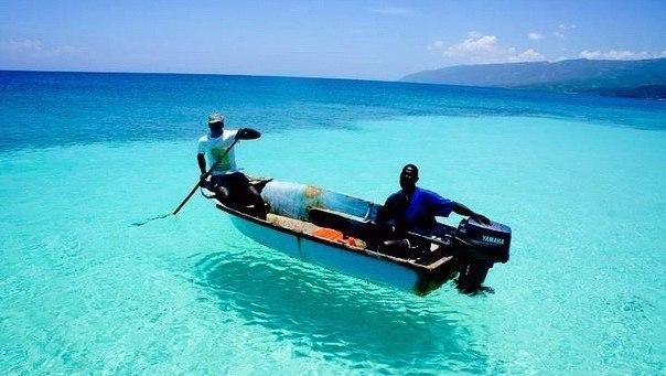 Гаити. Вода настолько прозрачная, что