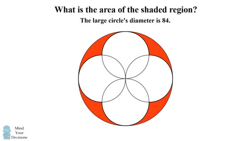 Can you solve this problem for 12 year old s in singapore 4 overlapping circle s