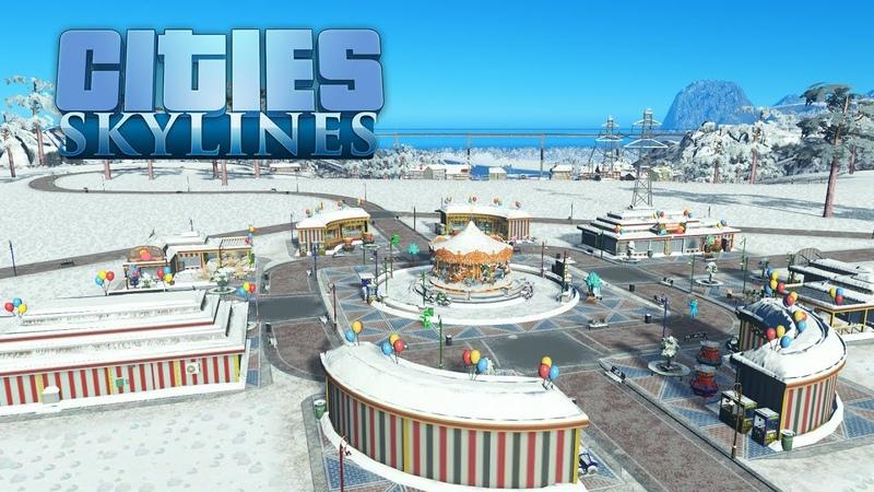Cities Skylines - Парк развлечений начинает работу, пробка на кольце! 12