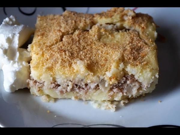 Картофельная запеканка с мясом в духовке как в детском саду Casserole with potatoes and meat