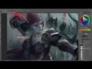 Sylvanas - Blizzard Commission - Painting Process
