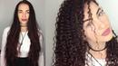 Спиральная завивка волос в афро-стиле на длинные волосы