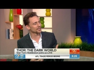Thor star Tom Hiddleston LIVE
