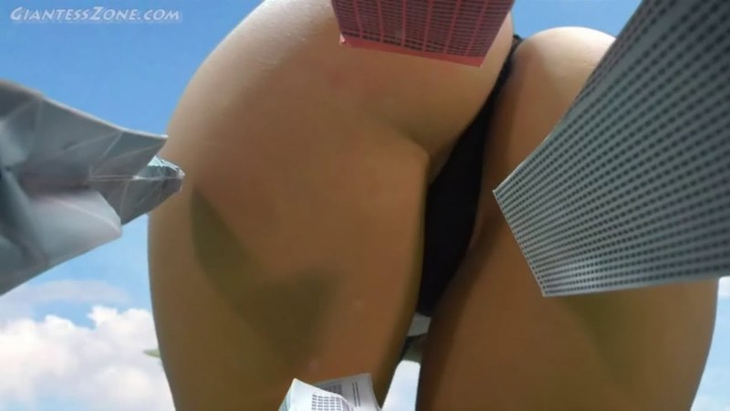 MegaMassive Giantess Butt Crush POV