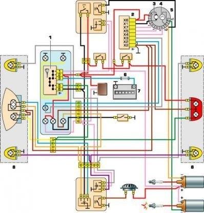 Схема проводки иж ю4