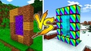 MINECRAFT NOOB VS PRO RAINBOW PORTAL BATTLE in Minecraft