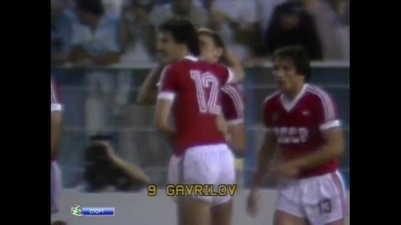 ЧМ-1982. СССР - Новая Зеландия. Мяч Юрия Гаврилова