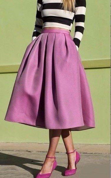 Яркие юбочки-колокол