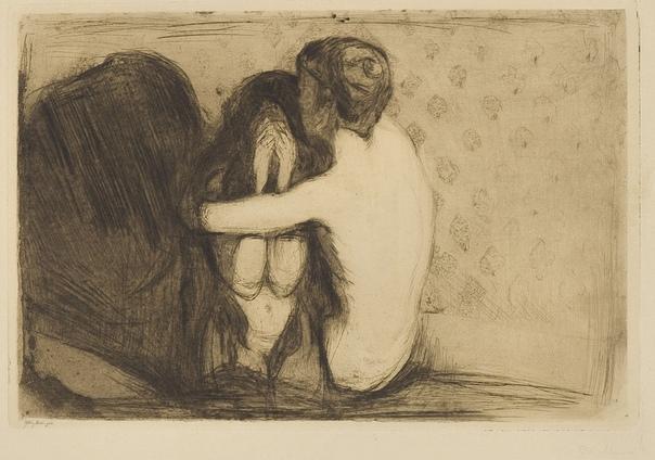 Рисунок «Утешение», 1894 год. Художник: Эдвард Мунк
