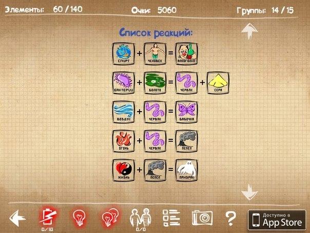 Как создать артефакты в doodle god алхимия