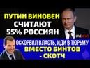 Путин виновен Считает народ Обидел власть в тюрьму