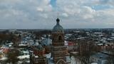 Dji spark Footage. Savior Transfiguration Cathedral in the city of Kovrov.