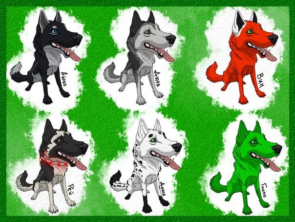 картинки злые волки аниме:
