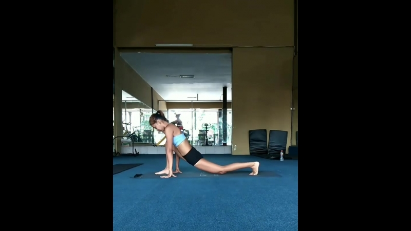Stretching for split