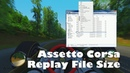 Assetto Corsa How to Change Replay File Size