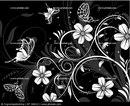 Фон с цветочным узором и бабочками; иллюстратор Алексей Тельнов; иллюстрация 2044152.  Эту и другие фотографии...