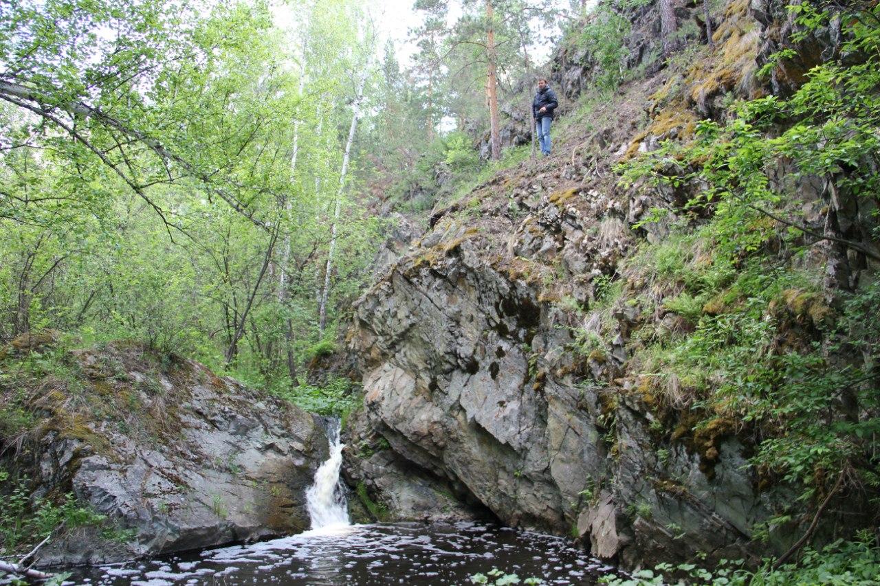 Артём (оператор ОТВ) над Ольгиным водопадом