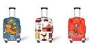 Эластичный защитный чехол для чемодана цирковой тематики