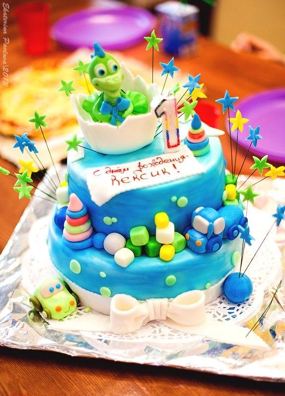 Торт на один год фото