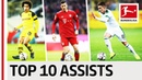 Top 10 Assists 2018 19 So Far The Best Plays From Lewandowski Witsel Co