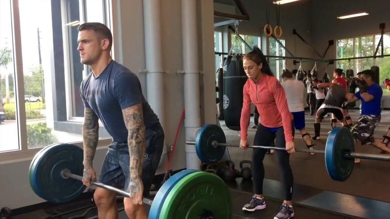 Joanna Jedrzejczyk Dustin Poirier Workout ATT