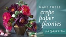 How To: Making a Gorgeous Peony Flower with Crepe Paper