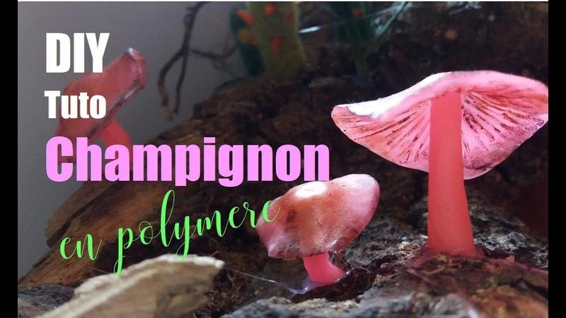 DIY tuto champignon en polymere