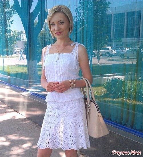 Белая юбка крючком от Victoria s Secret. (9 фото) - картинка