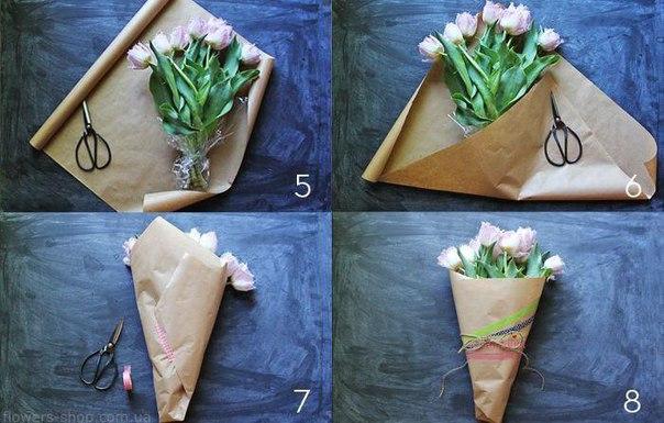 Упаковка одного цветка своими руками