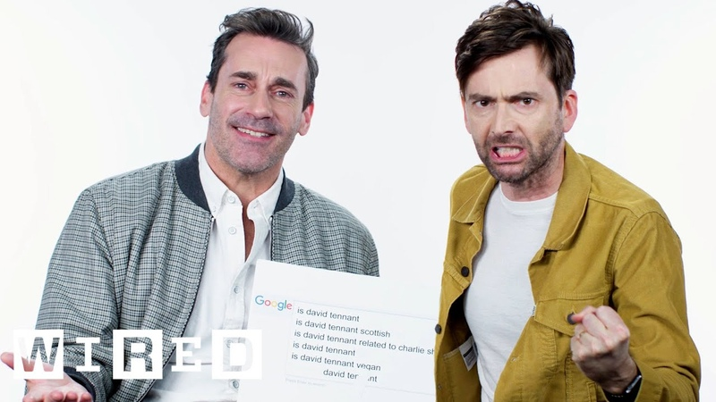 Jon Hamm David Tennant Answer the Web's Most Searched Questions   WIRED