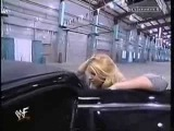 Trish Stratus sex noises in a limo - WWF Smackdown 22nd Feb 2001