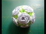 Цветочные шары из бумаги розы на кусудаме Электра