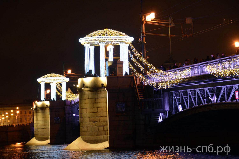 Дворцовый мост январь 2018